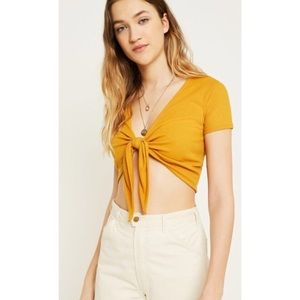UO Urban Outfitters Tie in Front Crop Top